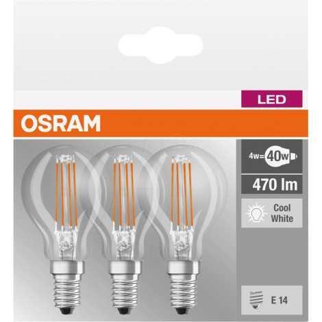 KOMPLEKTAS 3x LED lemputė BASE P40 E14/4W/230V 4000K – Osram   Lempumanija phoneloginbasketmenu