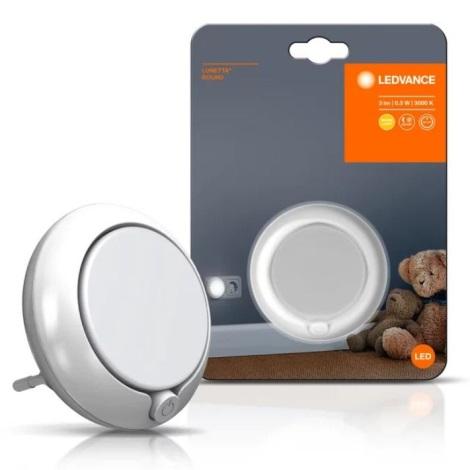 Ledvance - LED naktinė lemputė su jutikliu LUNETTA LED/0,3W/230V