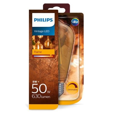 Pritemdoma LED elektros lemputė Philips E27/8W/230V 2000K