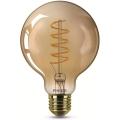Pritemdoma LED elektros lemputė VINTAGE Philips G93 E27/5,5W/230V