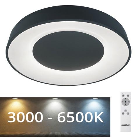 Rabalux - LED Lubinis reguliuojamas šviestuvas LED/38W/230V juodas + VP 3000-6500K