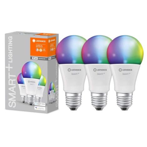 RINKINYS 3x LED RGB pritemdomos lemputės SMART + E27/9W/230V 2700K-6500K - Ledvance