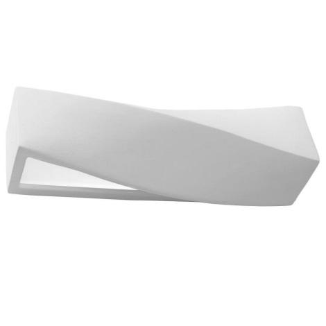 Sieninis šviestuvas SIGMA 1xE27/60W/230V baltas